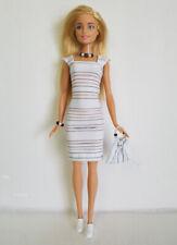 BARBIE & Model Muse Doll Clothes Dress + Purse + Jewelry Fashion NO DOLL d4e
