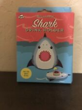 Inflatable Shark Drink Hlder Holds Your Drink In The Pool R The Tub.