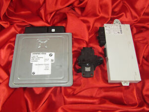 BMW E90 E60 E85 3 5 Z4'ies 2.3i N52 ENGINE ECU SET DME MSV70 CAS KEY READER LOCK