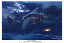 "P-61 Black Widow Aviation Art Print - 16"" x 24"""