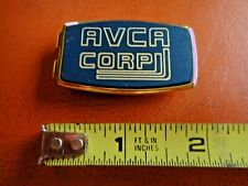 "Clip ""Avca Corp"" Advertising Vg Vintage Anson Gold Plate Money"