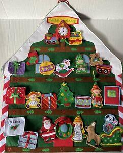Hallmark Kids Santa's Workshop Countdown Calendar Set of 25 Ornaments