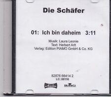 Die Schafer-Ich Bin Daheim promo cd single
