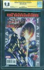 Ultimate Captain America 1 CGC SS 9.8 Stan Lee Annual 8 homage vs Black Panther