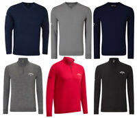 Callaway Golf Merino Blend V Neck & 1/4 Zip Sweater Medium OR XXL - RRP£70