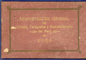 Peru 1934 UPU Congress, Cairo Egypt, Official Booklet