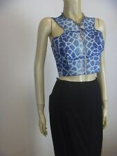SHAKUHACHI Racer Back Cropped Top sz 10 As New - BUY Any 5 Items = Free Post