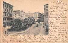 Sanremo Italy View Umberto Street Scene Antique Postcard J75475