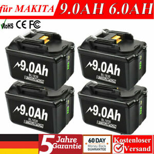Für Original Makita Akku 18V 9,0AH 6,0AH BL1860 BL1850 BL1840 BL1830 LXT Lithium