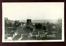 Somerset WEDMORE general view Church used 1957 RP PPC