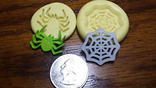 Mini spider & web set silicone molds fondant, chocolate, clay, sugar paste 306-3