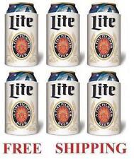 Miller Lite Beer 6 Throwback 12oz Can Coolers Koozie Coolie Hugie Coozie New