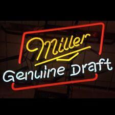 "17""x14"" MILLER LITE DRAFT BEER BAR PUB TAVERN DECOR ARTWORK REAL NEON LIGHT SIGN"