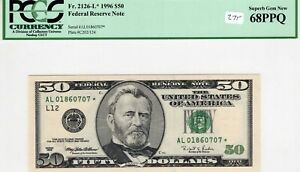 1996 Star Note $50 Federal Reserve Bank Note PCGS Superb Gem 68 PPQ FR# 2126-L*