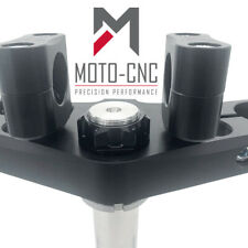 Flat Track Triple Clamp - Top Yoke + Anti Rotation Racing Top Clamps - *UK MADE*