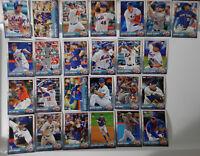 2015 Topps Series 1 & 2 New York Mets Team Set of 25 Baseball Cards