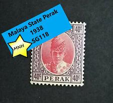 1938  Malaya State Perak SG117 40c  MNH