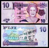 FIJI 10 $ DOLLARS ND 2007 P 111 a QE II / aUNC