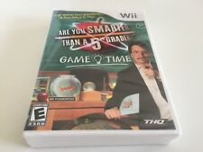 Are You Smarter Than a 5th Grader Game Time (Nintendo Wii, 2009) WII NEW