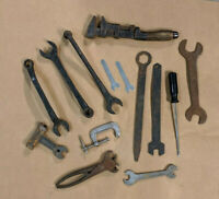 Lot of mixed Vintage Antique Wrenches USA Forged Steel Ford Model A Tools
