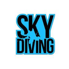 "Skydiving Skydiver Vinyl Car Sticker Decal 4"" x 4"""