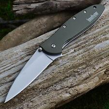 Kershaw Leek Olive Drab Handle Plain Edge 14C28N A/O Knife 1660OL
