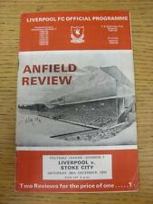 26/12/1970 Liverpool v Stoke City  (Creased, Pen Marks On Cover)