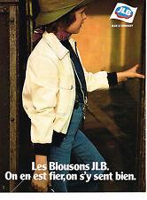 PUBLICITE ADVERTISING 054  1978  JEAN LE BOURGET  vetements enfants Blouson
