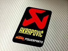 1 Adesivo Sticker AKRAPOVIC Power Alte Temperature High Temperatures