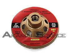 "Concrete Grinding 4"" Turbo Diamond Blade Turbo Cup Wheel Granite Marble Tool 043"