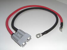 75cm ANDERSON PLUG 50 POWER CONNECTOR 6mm TERMINALS VARLEY RED TOP BATTERY BOOST
