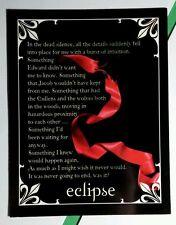 TWILIGHT SAGA STEPHENIE MEYER B&W RED RIBBON EDWARD JACOB BOOK PARAGRAPH CARD