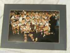 2002  SYDNEY ROOSTERS RUGBY LEAGUE  GRANDFINAL TEAM PHOTO WITH BORDER