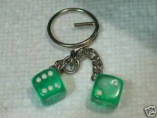 Dice Keychain Key Fob (#137)  Green (also have in othe colors)