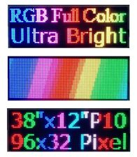 "38""x 12"" Full Color Semi Outdoor LED Sign Programmable Scrolling Message Board"