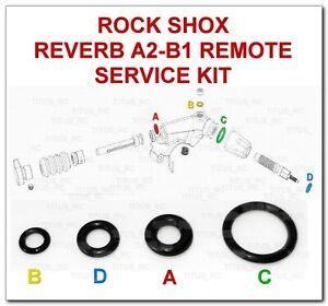 ROCKSHOX REVERB A2 & B REMOTE SERVICE KIT O-RING SEALS PUSH PLUNGER TYPE