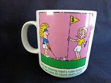 Ladies Golf Mug ARE WE PLAYING MENS RULES TODAY Coffee Cup