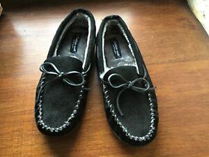 Men's suede slippers unworn size