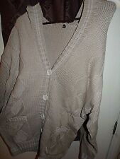 Fashion Concepts Button Up Cardigan Sweater Hooded Fashion Size 3XL Gray Color