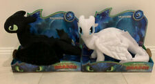 How to Train Your Dragon TOOTHLESS + LIGHT FURY 2 PLUSH TOY FIGURE *NEW* sale!
