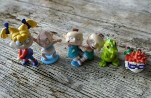 1997 Viacom Nickelodeon The Rugrats Bundle X5 Reptar, Chuckie, Angelica, Tommy