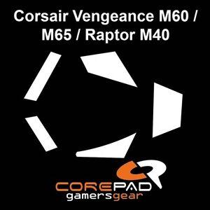 Corepad Skatez Corsair Vengeance M60 M65 Raptor M40 Souris Pieds Patins Téflon