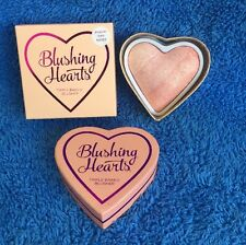 Makeup Revolution Blushing Hearts Blush - Peachy Pink Kisses - MELB STOCK