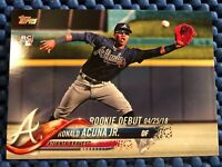 2018 Topps Update Ronald Acuña Jr Rookie Debut 4.25.18 Acuna RC #US252 Mint