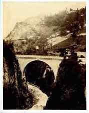 France, Pyrénées Pont Napoléon  Vintage albumen print. construit en 1860 (près d