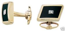 Dolan BULLOCK 14K gold & ONYX diamond CUFFLINKS  kcl102100 usa made 9.2 g