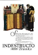 1920 Indestructo Trunks-Travel Trunk-Packable-Modern Wardrobe-Vacation-Vintage