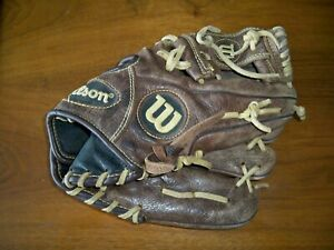 """Youth Baseball Glove RIght Handed 11.5"""" Leather Wilson Optima RHT A800 Showtime"""