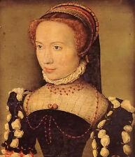 Oil painting corneille de lyon - portrait of gabrielle de rochechouart nice lady