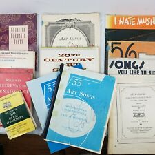 Art songs/educational books Classic Piano Sheet Music & Song Books Lot of 11 Vtg